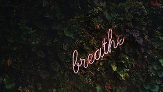 breathe in neon-letters