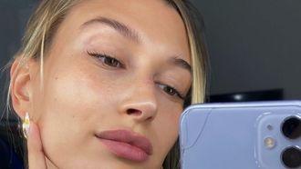 hailey bieber zonder make-up