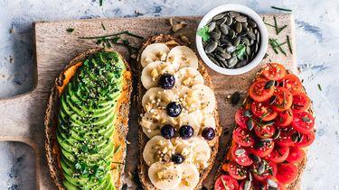 broodjes met veganistisch beleg