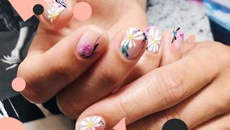 bloemen nail art inspiratie