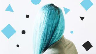 blauw haar Elsa kapsel