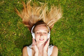 Girl music headphones