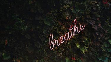 breathe in neon-letters
