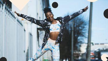 fitter worden afvallen springende vrouw