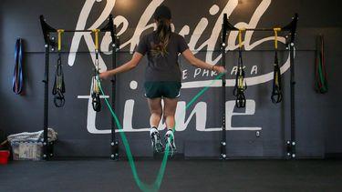 touwtjespringen oefening
