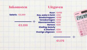 inkomsten en uitgaven chloe