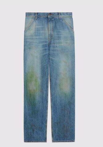 gucci jeans met grasvlekken
