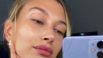 hailey bieber zonder make-up huid producten