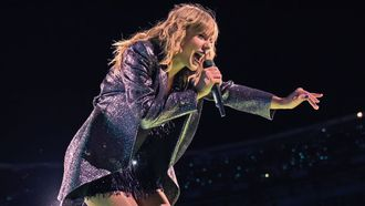 Taylor Swift zat vast show
