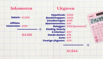 inkomsten en uitgaven van Annemijn