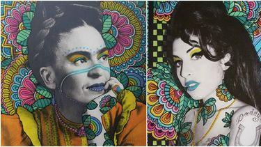 vix harris illustraties kunst powervrouwen, frida kahlo amy winehouse