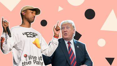 Pharrell bedreigt Trump