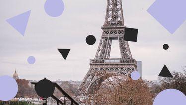 Terras Eiffeltoren winter