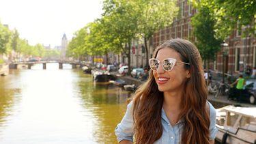 Girl Amsterdam happy