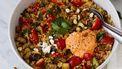 maaltijdsalade vegetarisch couscous