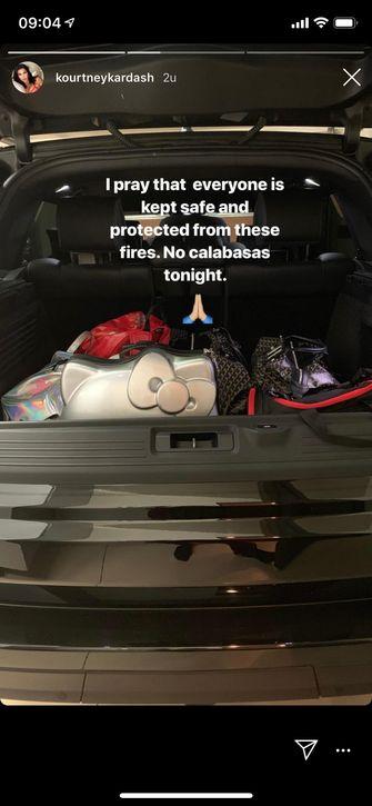 kim kardashian evacueren