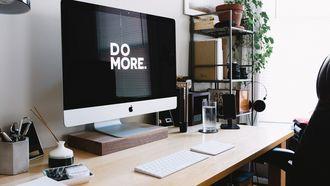 computerscherm op een bureau